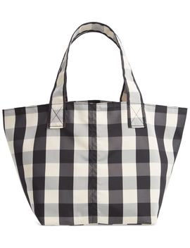 Small Gingham Nylon Grocery Tote by Trademark