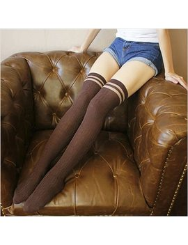 Fashion College Wind Women Hot Thigh High Socks Sexy Warm Cotton Over The Knee Socks Striped Long Stockings For Girls Wholesale  by Lnrrabc
