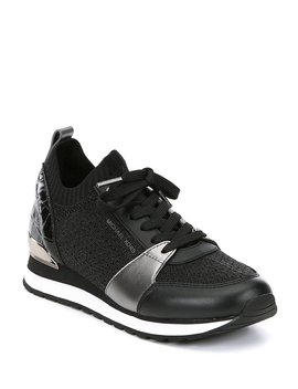 Billie Knit Trainer Metallic Sneakers by Michael Michael Kors