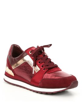 Billie Trainer Nappa Leather And Satin Sneakers by Michael Michael Kors