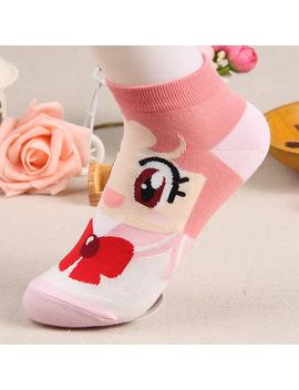 Japan Kawaii Sailor Moon Women's Socks Cute Cartoon Ankle Sock Spring Summer Thin Cotton Women's Short Socks Funny Socks Women by Ali Express