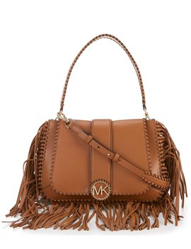Lillie Fringe Medium Top Handle Cross Body Bag by Michael Michael Kors
