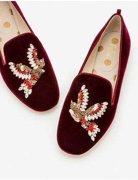 Lucy Embellished Slippers by Boden