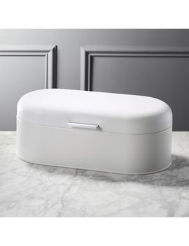 Matte White Bread Box by Crate&Barrel