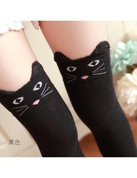 New Women Cotton Cartoon Bear Over Knee Sock Sexy Thigh High Stockings Autumn Winter Warm Socks Wholesale Panda Cat Stockings by Ali Express