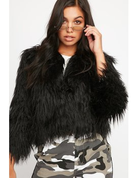Soft Faux Fur Cropped Jacket by Urban Planet