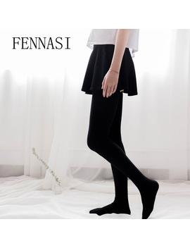 Fennasi Women's Thick White Black Stockings Sexy Thigh High Socks Over Knee Kawaii Stockings Female Cotton Knee High Socks by Fennasi