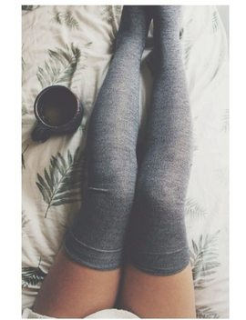 Sexy Women Stockings Thigh High Over Knee Socks 2018 Autumn Winter Cotton Long Socks Fashion Girls  Black Gray Stocking Medias by Lanshifei