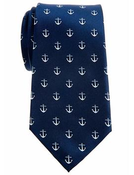 "Retreez Classic Anchor Pattern Woven Microfiber 3.15"" Men's Tie   Various Colors by Retreez"