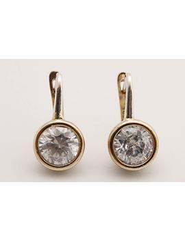 Fashion Style Turkish Handmade Jewelry Round Shape Topaz 925 Sterling Silver Stud Earrings by Amazon