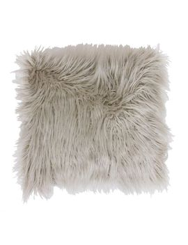 Keller Oversized Faux Fur Mongolian Oatmeal Pillow by Pier1 Imports