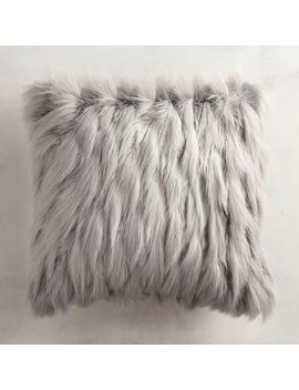 Gray Faux Fur Eyelash Pillow by Pier1 Imports