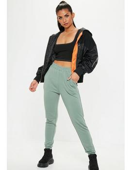 Mint Green Basic Joggers by Missguided