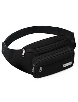 Mycarbon Fanny Packs For Women And Men Cute Large Capacity Waist Pack Non Bounce Running Belt For Travelling Non Slip Cotton Belt Fanny Bag Durable Waist Pouch For Hiking Cycling Running Working Black by Mycarbon