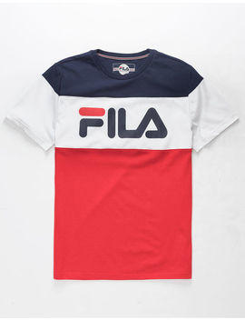Fila Color Block Red, White, & Blue Boys T Shirt by Fila