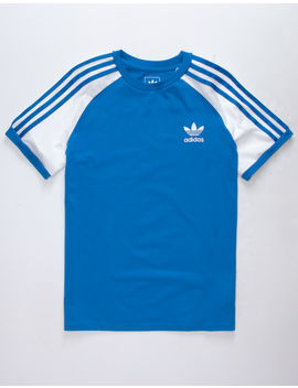 Adidas California Blue & White Boys Jersey T Shirt by Adidas