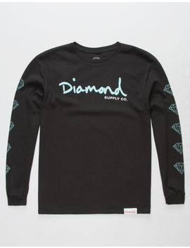 Diamond Supply Co. Og Script Black Boys T Shirt by Diamond Supply Co.