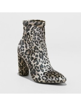 Women's Norma Cylinder Heeled Bootie   A New Day™ by A New Day™