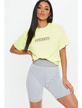 Grey Drain Pipe Seam Cycling Shorts by Missguided