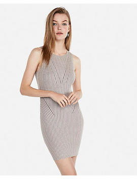 Sleeveless Fitted Mini Sweater Dress by Express