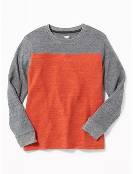 Color Blocked Thermal Knit Football Tee For Boys by Old Navy