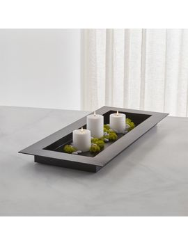 "Reflection 32"" Black Metal Centerpiece by Crate&Barrel"