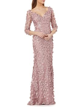 3 D Novelty Gown by Carmen Marc Valvo Infusion