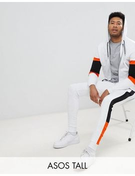 Asos Tall Tracksuit Zip Up Hoodie With Color Blocking/ Super Skinny Jogger by Asos