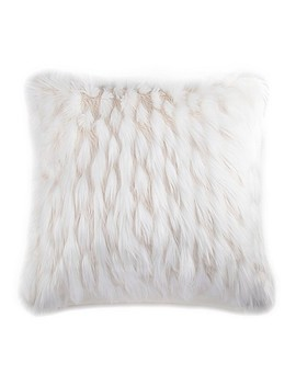 "Faux Fox Tail 26"" Square Throw Pillow by Bed Bath And Beyond"