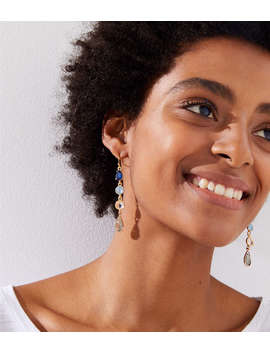 Cascading Stone Drop Earrings by Loft