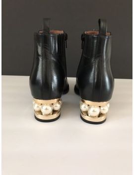 Jeffrey Campbell Orlando Faux Pearl Boot Black Size 9 Ankle Bootie by Jeffrey Campbell