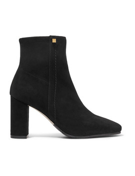Solo Stretch Suede Ankle Boots by Stuart Weitzman