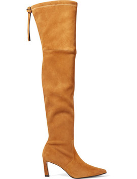 Natalia Suede Over The Knee Boots by Stuart Weitzman