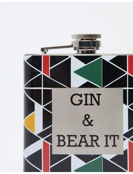 Kado Gin & Bear It Hip Flask by Asos