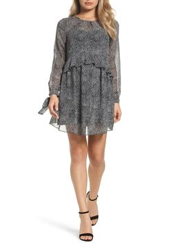 Long Sleeve Tiered Dress by Sam Edelman