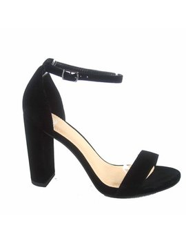 Shiner Women's Fashion Open Toe Ankle Strap Buckle Chunky High Heels Sandals Shoes by Delicious