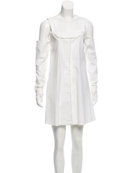 Cold  Shoulder Shirtdress by Opening Ceremony