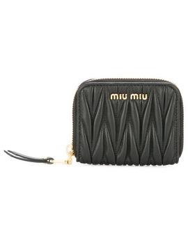 Miu Miutextured Zip Pursehome Women Miu Miu Accessories Wallets & Purses by Miu Miu