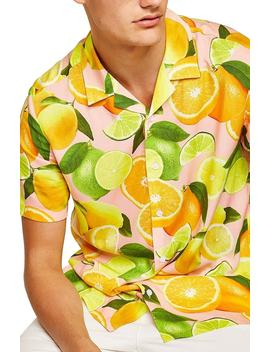 Lemon Print Camp Shirt by Topman