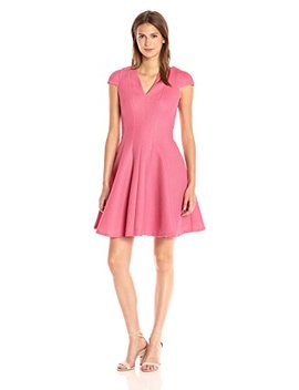 Julia Jordan Women's V Neck Cap Sleeve Fitflare Knit Dress by Julia Jordan