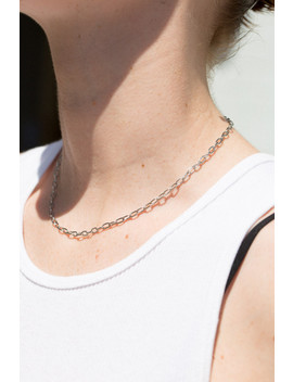 Silver Thin Chain Link Necklace by Brandy Melville