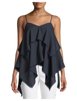 Angelika Tiered Handkerchief Camisole by Tahari Asl