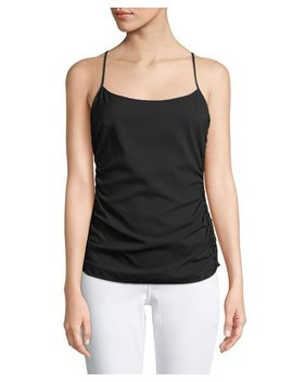 Ruched Side Stretch Silk Cami by Theory