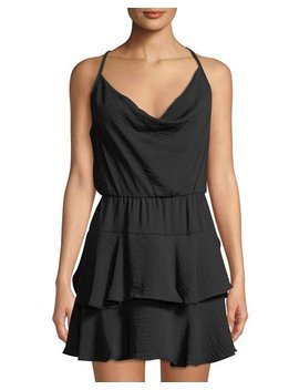 Cowl Neck Sleeveless Ruffle Dress by Bcb Generation
