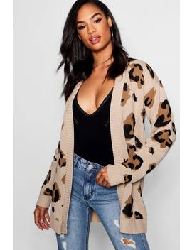 Tall Leopard Cardigan by Boohoo