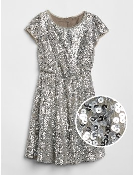 Sequin Fit And Flare Dress by Gap