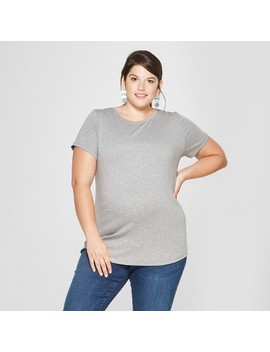 Maternity Plus Size Short Sleeve Crew Neck T Shirt   Isabel Maternity By Ingrid & Isabel™ by Isabel Maternity By Ingrid & Isabel