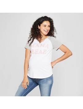 Maternity Mama Bear Short Sleeve Graphic T Shirt   Grayson Threads White by Grayson Threads