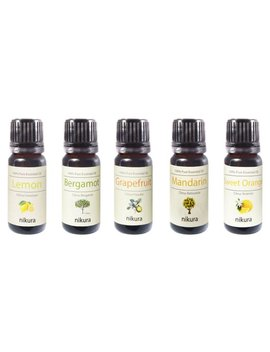 5 X 10ml Essential Oils   Citrus   Gift Set by Etsy