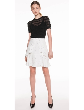 Spot Crepe Frill Skirt by Cue